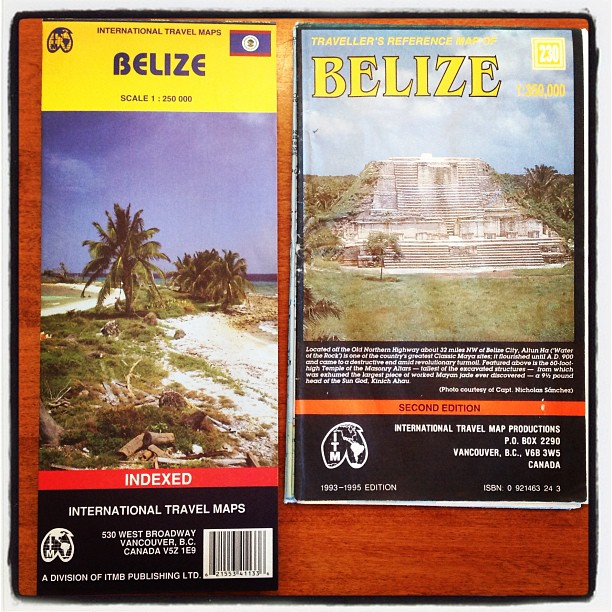 Old and New Belize Maps
